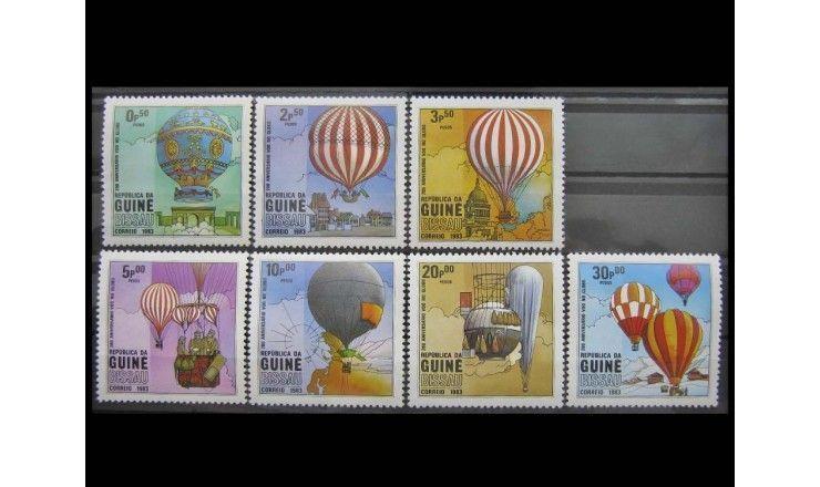 """Гвинея-Бисау 1983 г. """"200 лет авиации"""""""