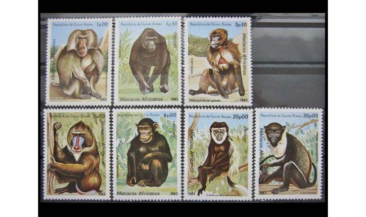 "Гвинея-Бисау 1983 г. ""Обезьяны"""