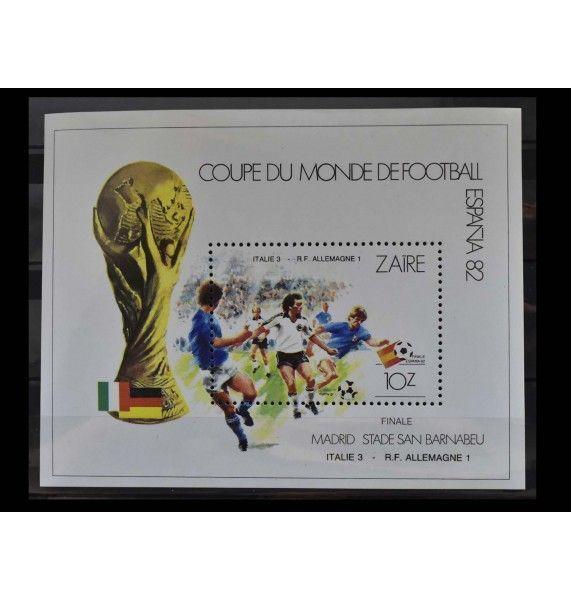 """Заир 1982 г. """"Чемпионат мира по футболу, Испания"""""""