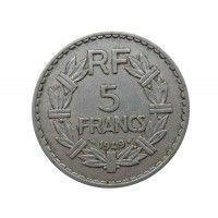 Франция 5 франков 1949 г.