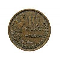 Франция 10 франков 1954 г.