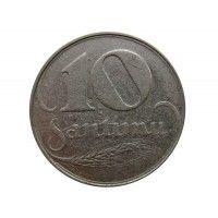 Латвия 10 сантимов 1922 г.