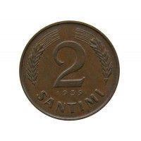 Латвия 2 сантима 1939 г.