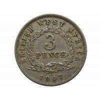 Британская Западная Африка 3 пенса 1947 г. H