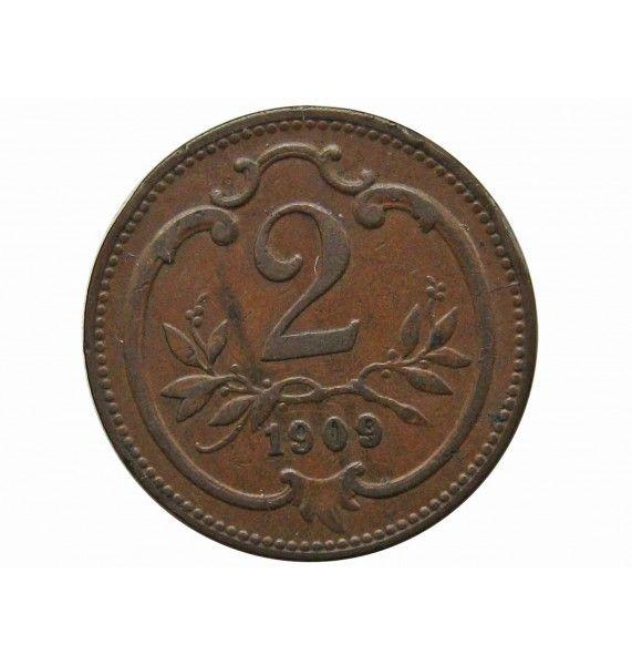 Австрия 2 геллера 1909 г.