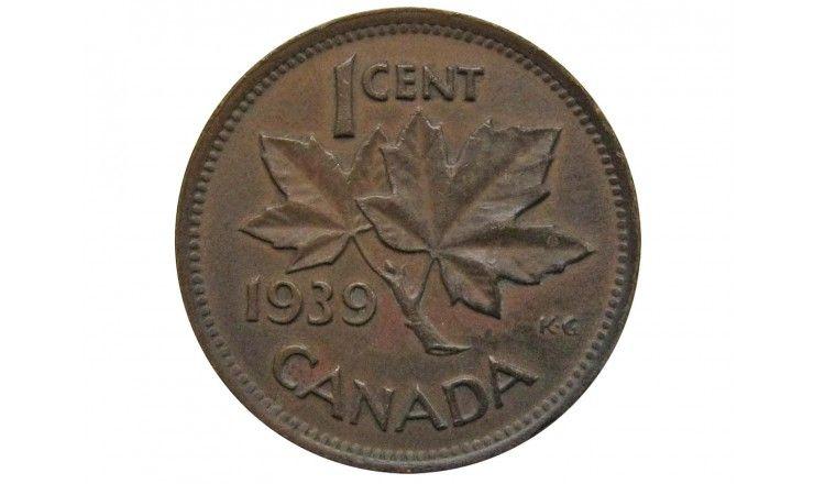 Канада 1 цент 1939 г.