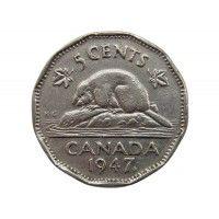 Канада 5 центов 1947 г. (лист)