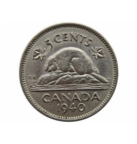 Канада 5 центов 1940 г.