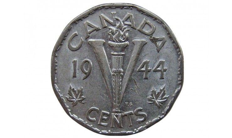 Канада 5 центов 1944 г.