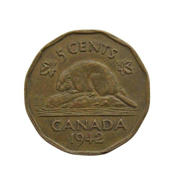 Канада 5 центов 1942 г.