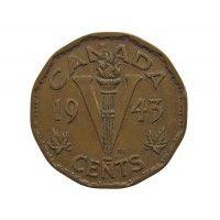 Канада 5 центов 1943 г.