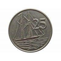 Каймановы острова 25 центов 1990 г.