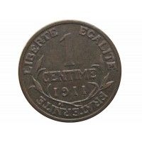 Франция 1 сантим 1911 г.