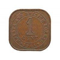 Малайя и Британское Борнео 1 цент 1961 г.