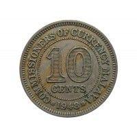Малайя 10 центов 1948 г.