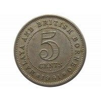 Малайя и Британское Борнео 5 центов 1961 г.