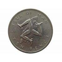 Остров Мэн 10 пенсов 1976 г.