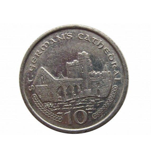 Остров Мэн 10 пенсов 2003 г. AA