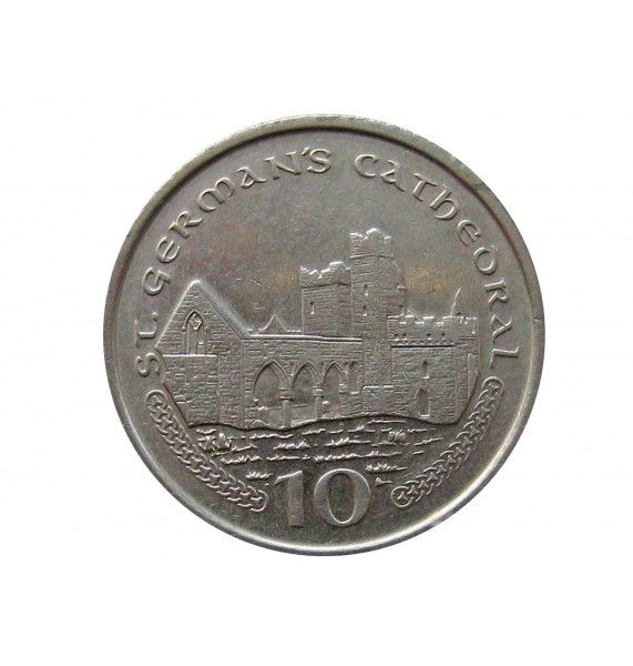 Остров Мэн 10 пенсов 2002 г. AA