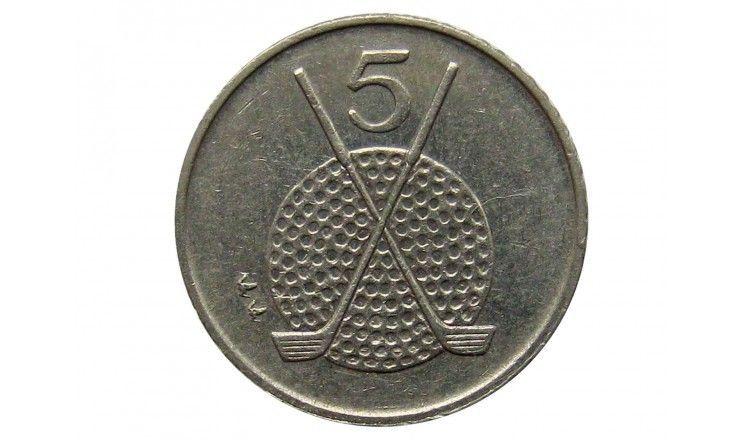Остров Мэн 5 пенсов 1994 г. AA