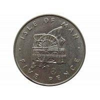 Остров Мэн 5 пенсов 1979 г. AA