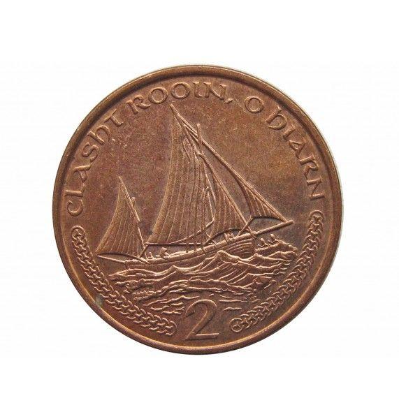Остров Мэн 2 пенса 2000 г. AA