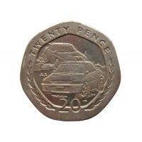 Остров Мэн 20 пенсов 1998 г. AA