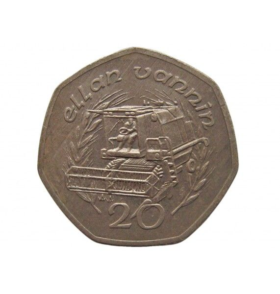 Остров Мэн 20 пенсов 1991 г. AA