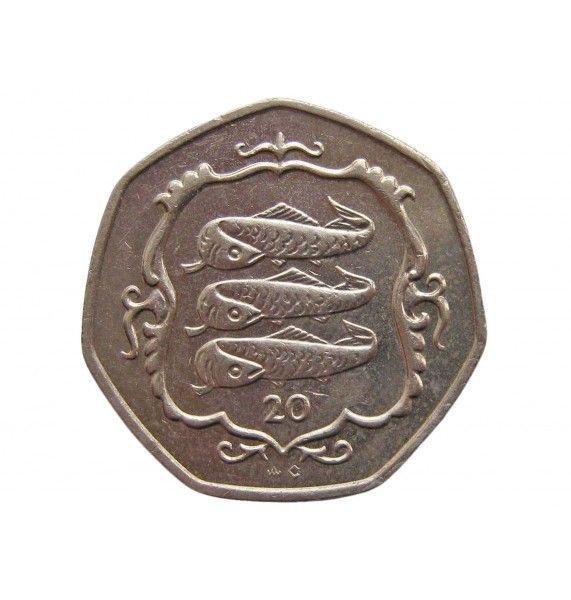 Остров Мэн 20 пенсов 1986 г. AС