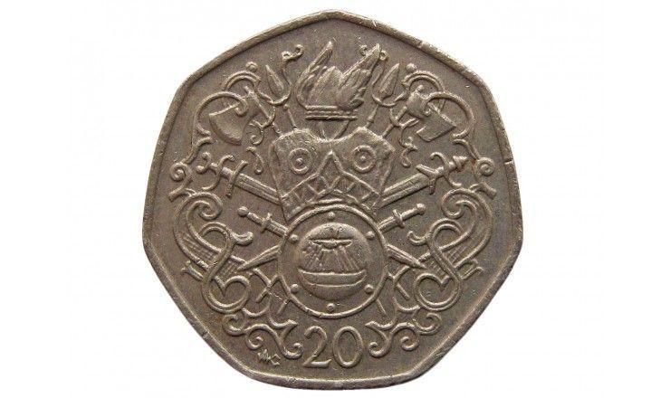 Остров Мэн 20 пенсов 1982 г. AС