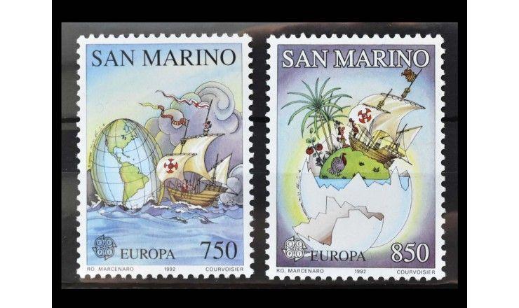 """Сан-Марино 1992 г. """"Европа: 500 лет открытия Америки"""""""