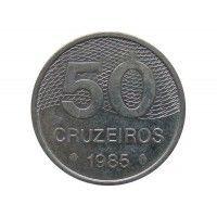 Бразилия 50 крузейро 1985 г.