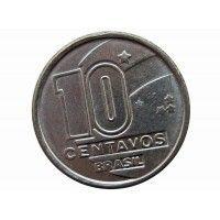 Бразилия 10 сентаво 1989 г.
