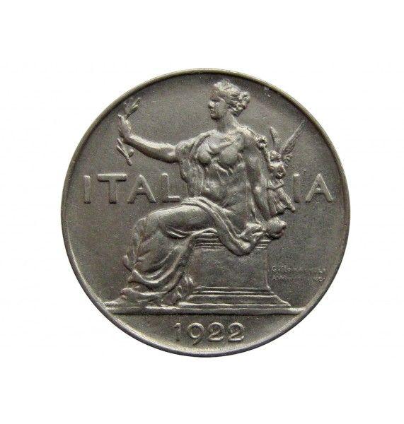Италия 1 лира 1922 г.