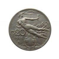 Италия 20 чентезимо 1921 г.