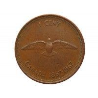 Канада 1 цент 1967 г. (100 лет Конфедерации Канада)
