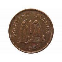 Фолклендские острова 1 пенни 1987 г.