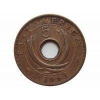 Британская Восточная Африка 5 центов 1963 г.
