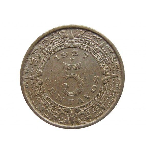 Мексика 5 сентаво 1937 г.