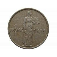 Люксембург 1 франк 1939 г.