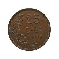 Люксембург 25 сантимов 1930 г.