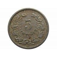 Люксембург 5 сантимов 1901 г.