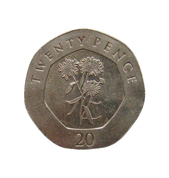 Гибралтар 20 пенсов 2016 г.