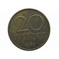 Германия 20 пфеннигов 1969 г.