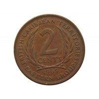 Восточно-Карибские территории 2 цента 1965 г.