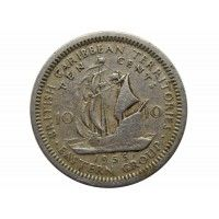Восточно-Карибские территории 10 центов 1955 г.