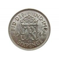 Великобритания 6 пенсов 1946 г.