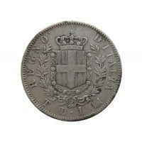 Италия 1 лира 1863 г. T BN