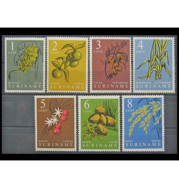 """Суринам 1961 г. """"Стандартные марки: Природные растения"""""""