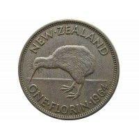 Новая Зеландия 1 флорин 1964 г.
